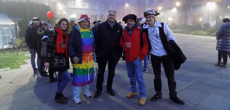 CremonaOggi.it : La religione laica dei Pastafariani, provocazione colorata in piazza Marconi