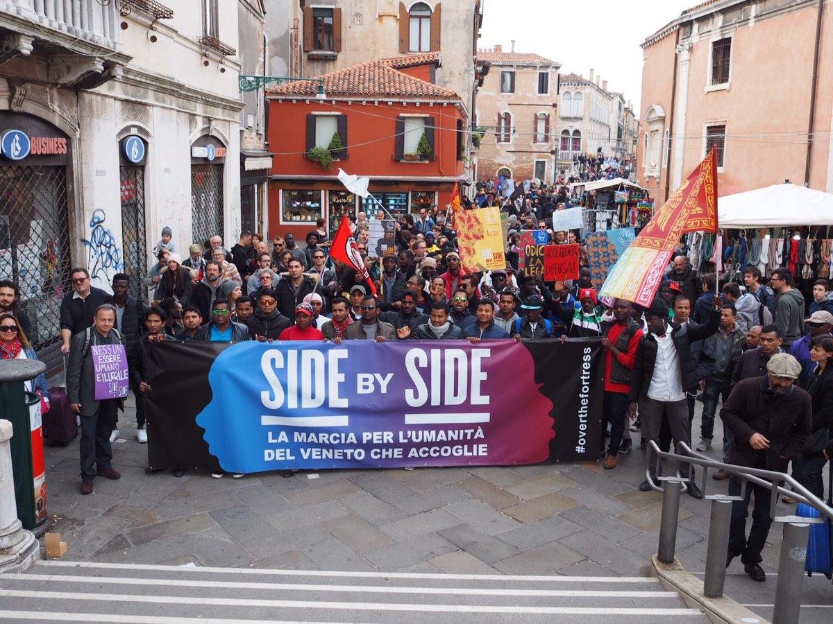 Il Gazzettino: Associazioni e migranti in marcia 4mila in corteo dalla stazione